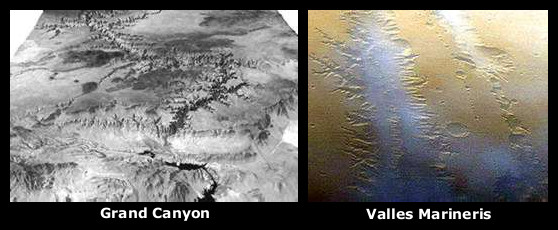 The Grand Canyon and Valles Marineris