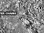 Io crater chains
