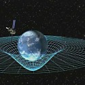 Artist concept of Gravity Probe B orbiting the Earth.
