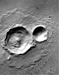 Anode crater on Mars
