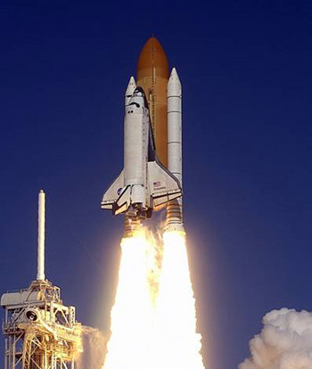 Columbia space shuttle launch