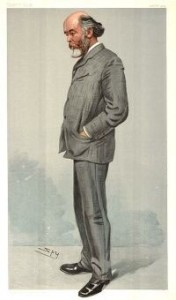 Caricature of Sir Oliver Lodge