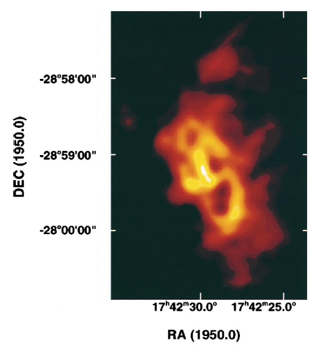 Infrared image of the mini-spiral at the Galactic Center