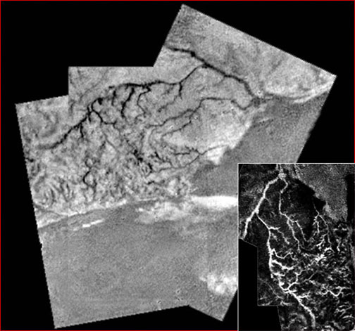 Titan's lightning-like surface features