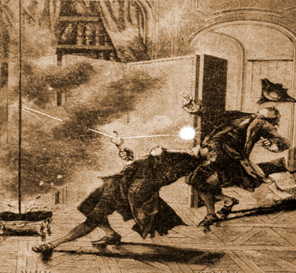 The earliest eyewitness sketch of a ball lightning fatality?
