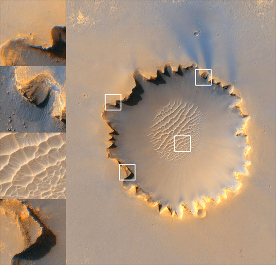 Victoria crater on Mars